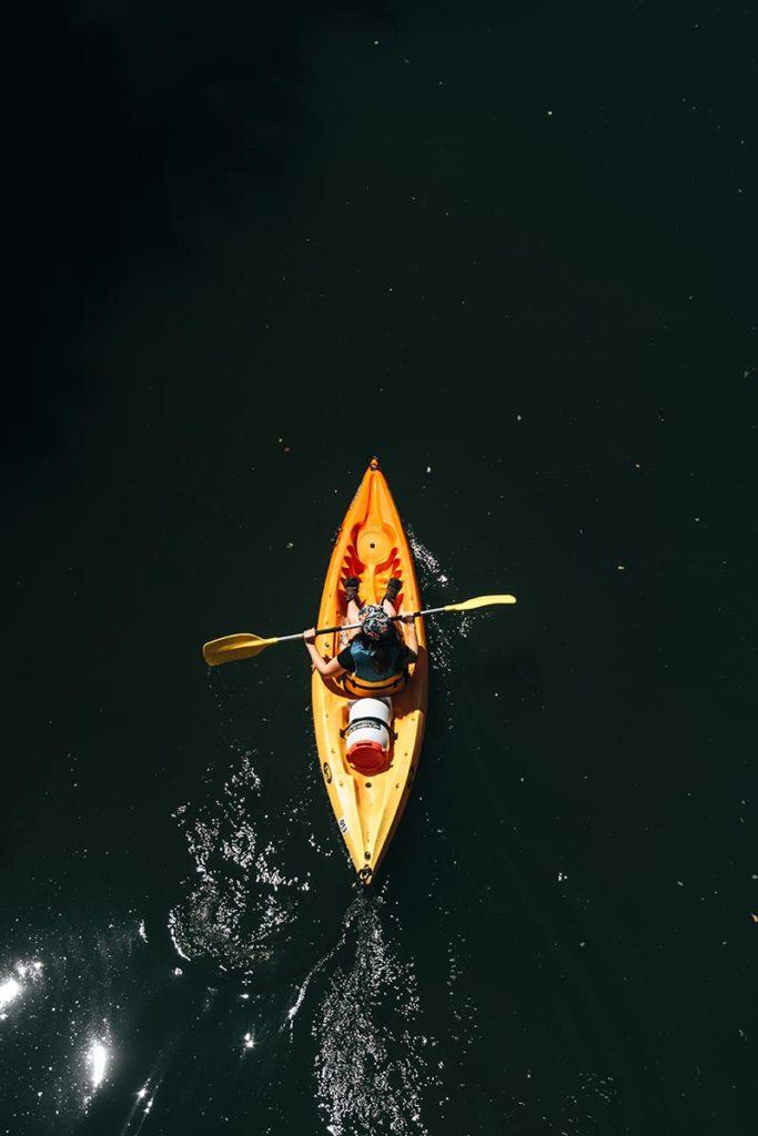 Eure Louviers kayak Audrey vue de haut Refuse to hibernate