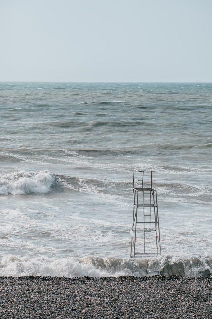 Baie de Somme Cayeux-sur-mer chaise secouriste Refuse to hibernate