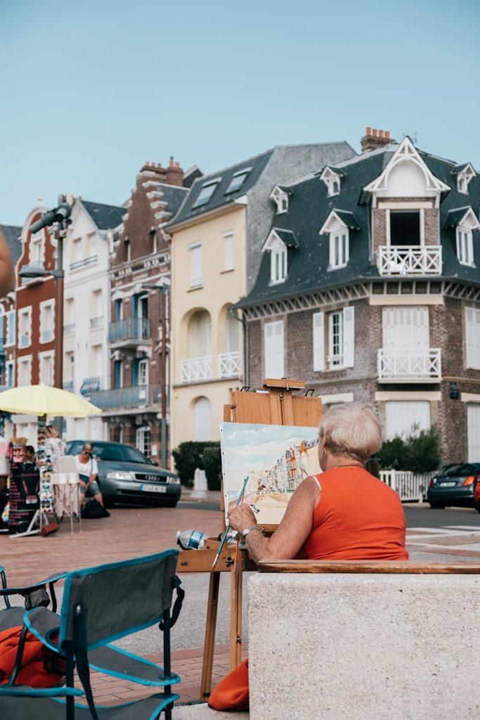 Baie de Somme Mers-les-Bains maisons colorées en peinture Refuse to hibernate
