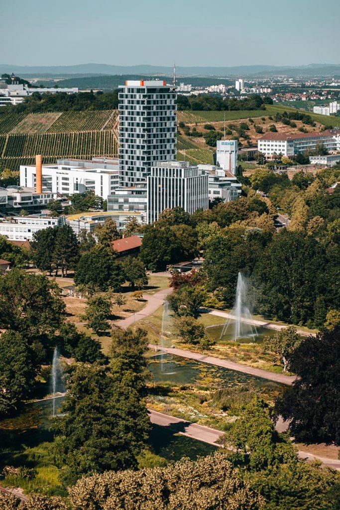 Stuttgart visiter en 1 jour vue depuis Tour de Killesberg Refuse to hibernate