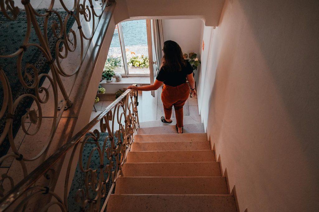 Ulm visiter en 2 jours hôtel Am rathaus escalier Refuse to hibernate