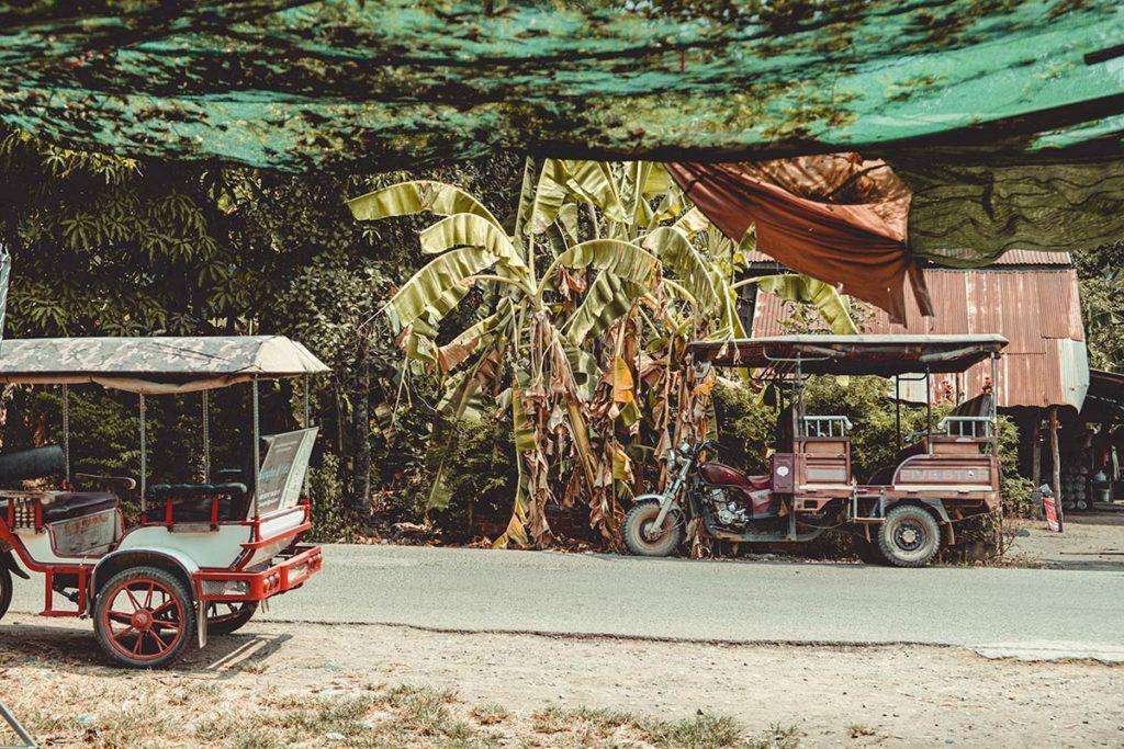 Battambang fabrique de galettes de riz route Refuse to hibernate