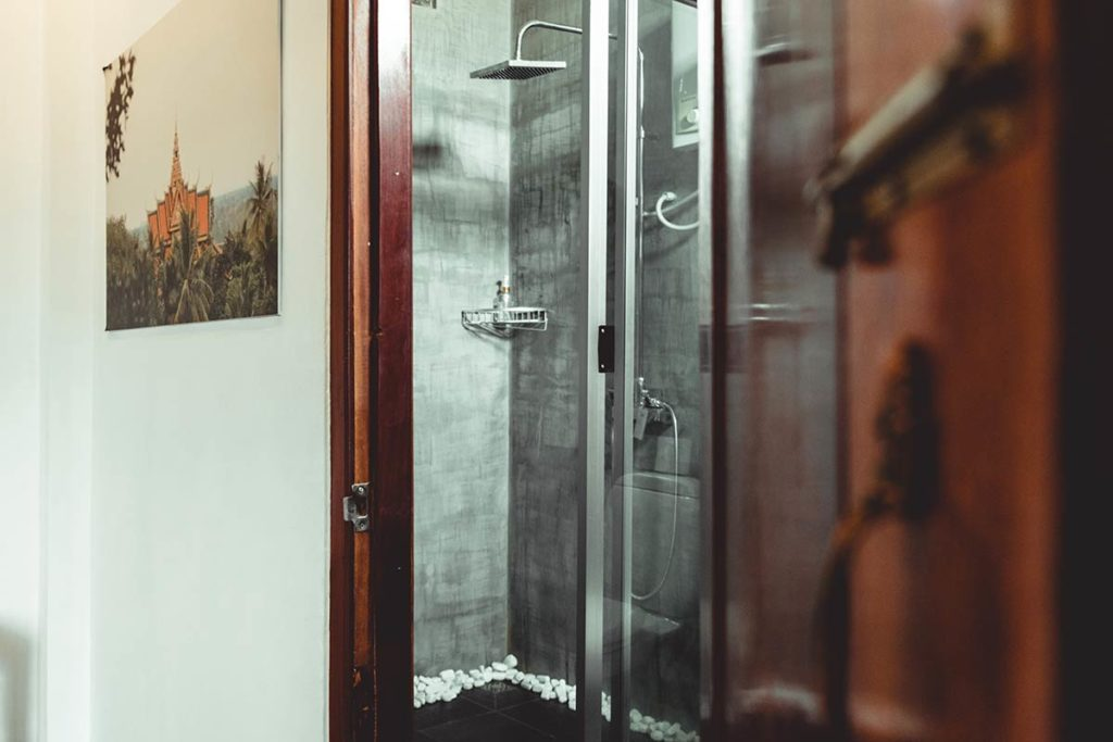Battambang Hotel Sangker Villa salle de bain Refuse to hibernate