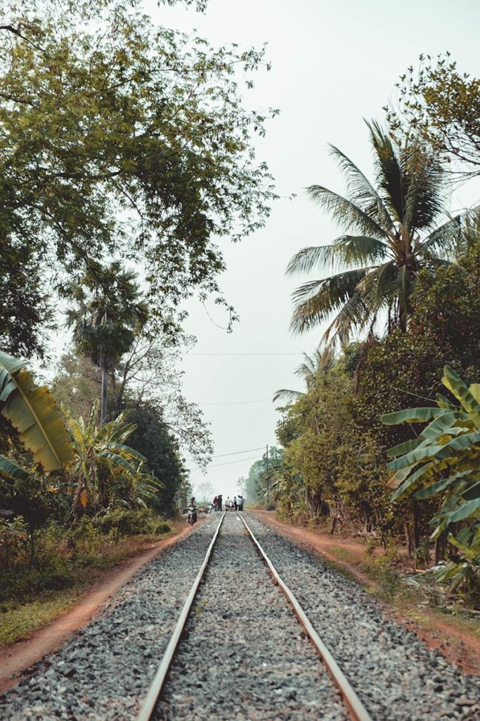 Battambang rails du train de bamboo Refuse to hibernate