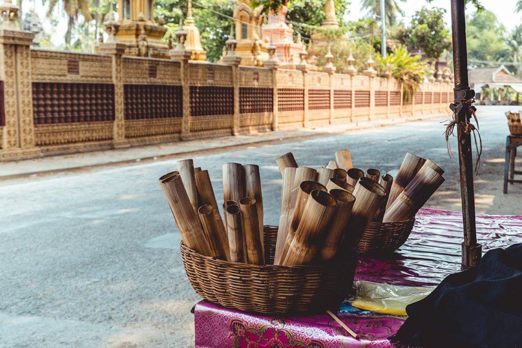 Battambang sticky rice aux bords de la route Refuse to hibernate