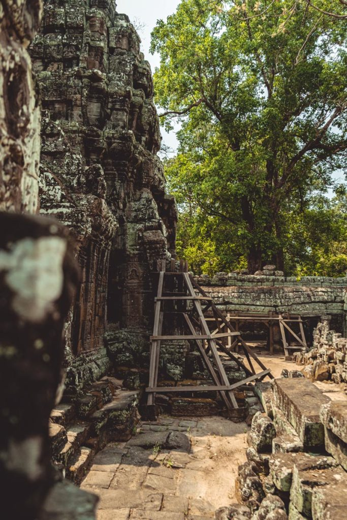 Banteay Kdei temples d'Angkor restauration Refuse to hibernate