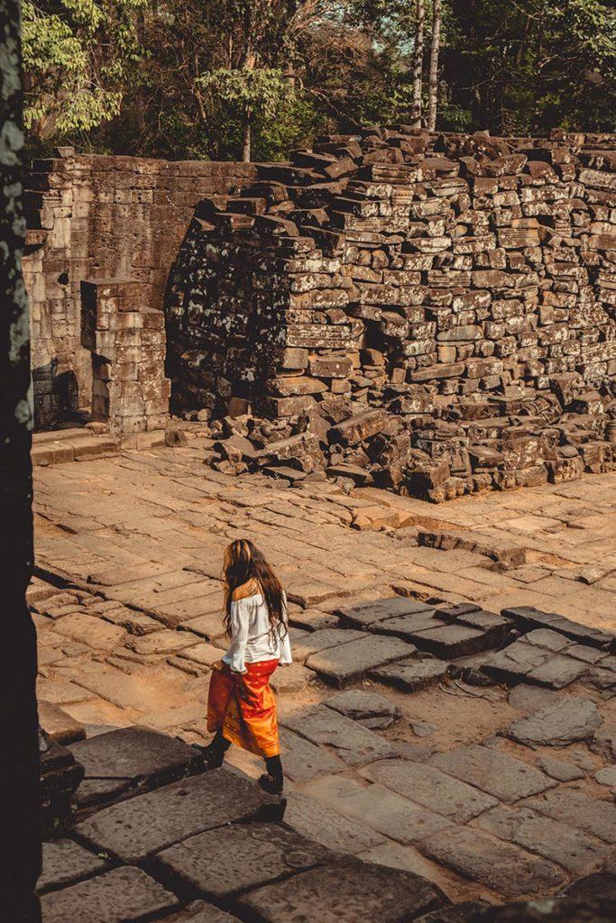 Bayon temples d'Angkor touriste Refuse to hibernate