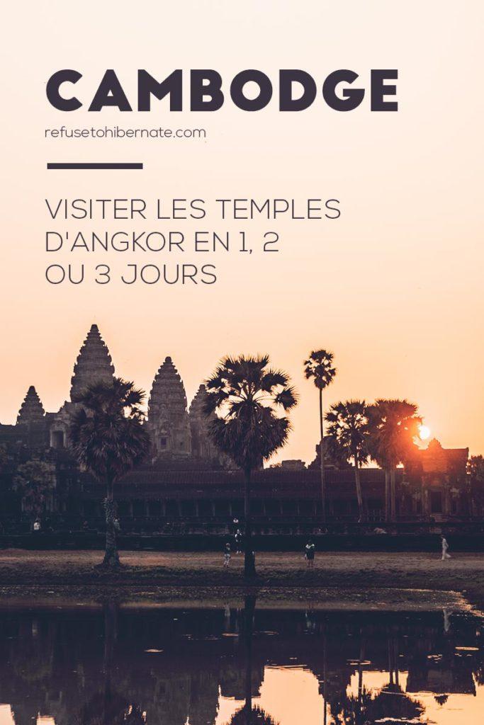Cambodge visiter les temples en 1, 2 ou 3 jours Pinterest
