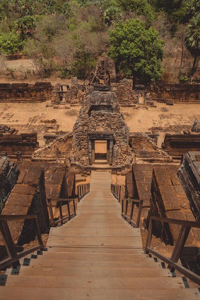 Prè Rup temples d'Angkor escalier Refuse to hibernate