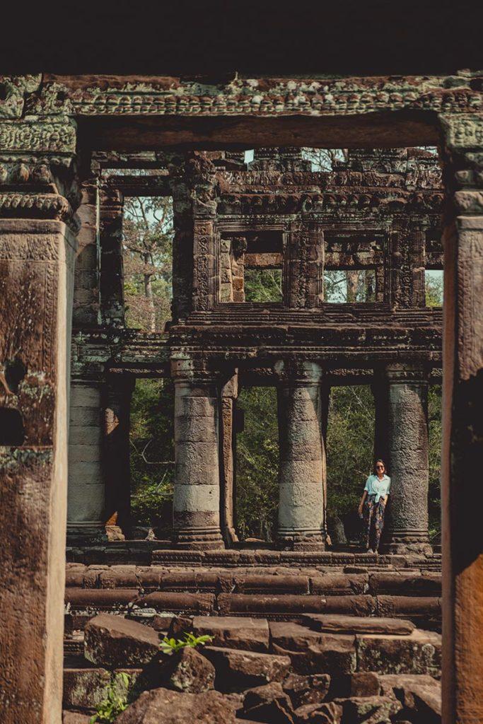 Preah Khan temples d'Angkor colonnes Refuse to hibernate