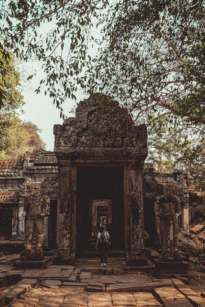 Preah Khan temples d'Angkor entrée Refuse to hibernate