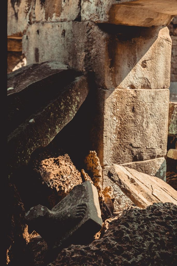 Preah Khan temples d'Angkor pied Refuse to hibernate