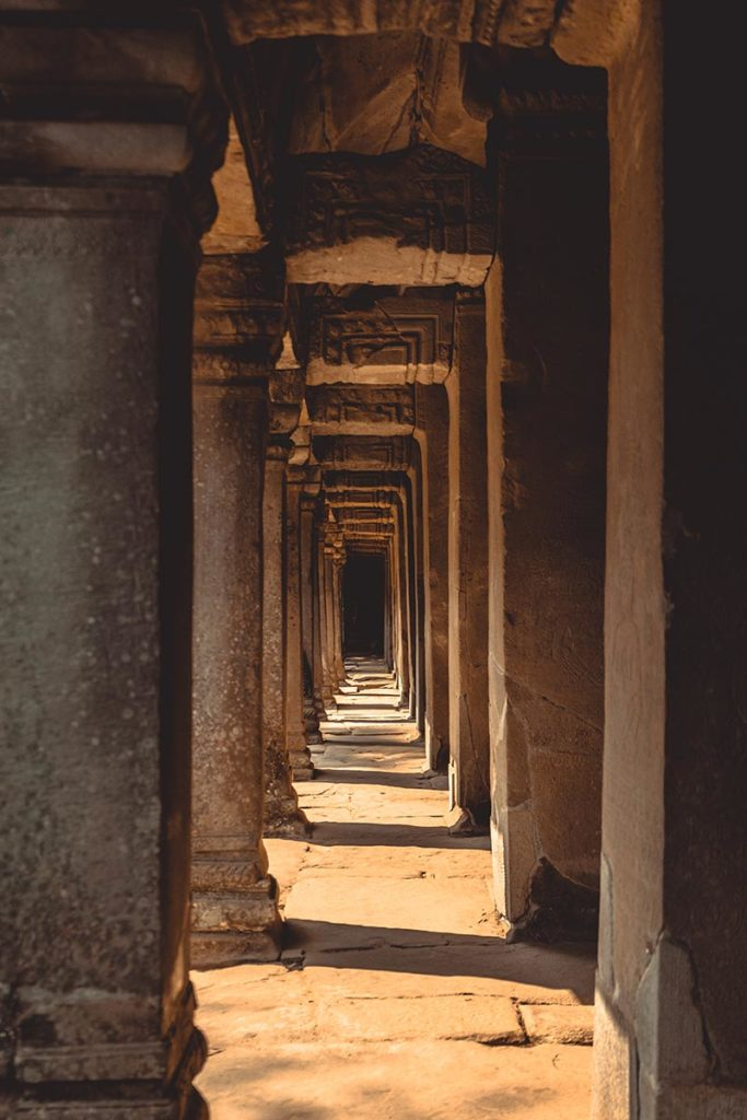 Ta Prohm temples d'Angkor couloir Refuse to hibernate