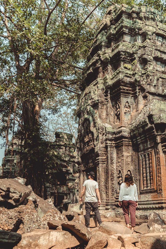 Ta Prohm temples d'Angkor seul dans le temple Refuse to hibernate