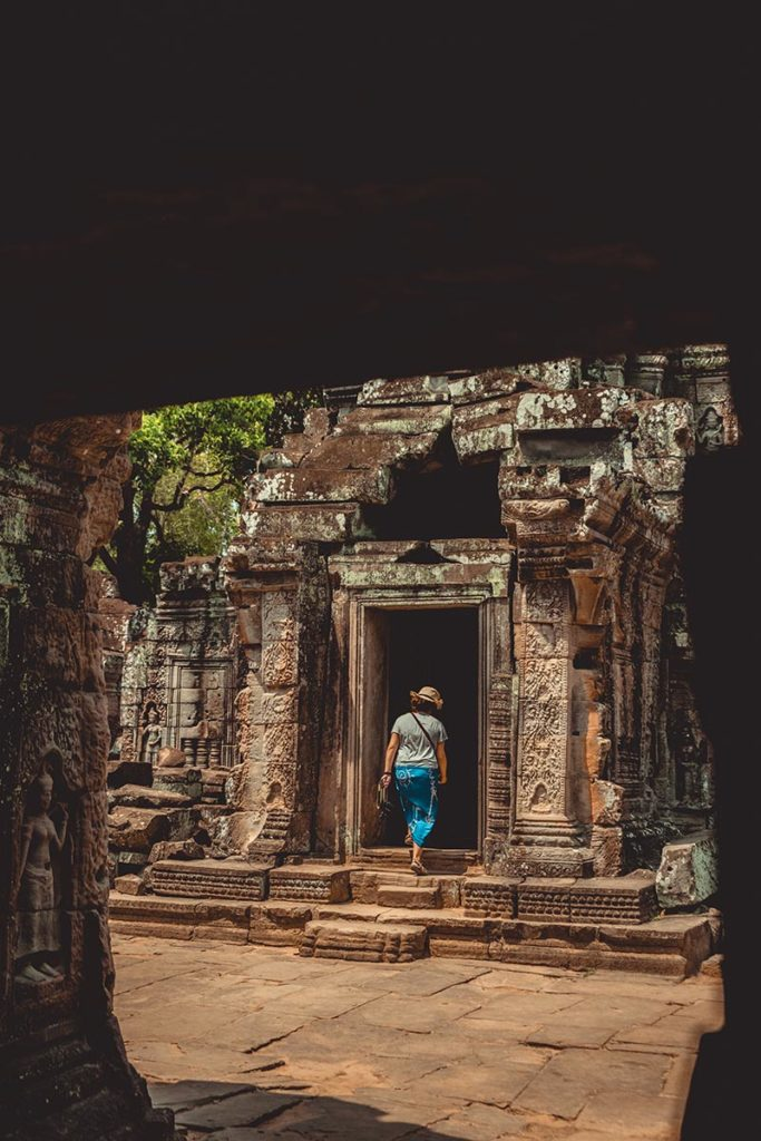 Ta Som temples d'Angkor touriste refuse to hibernate