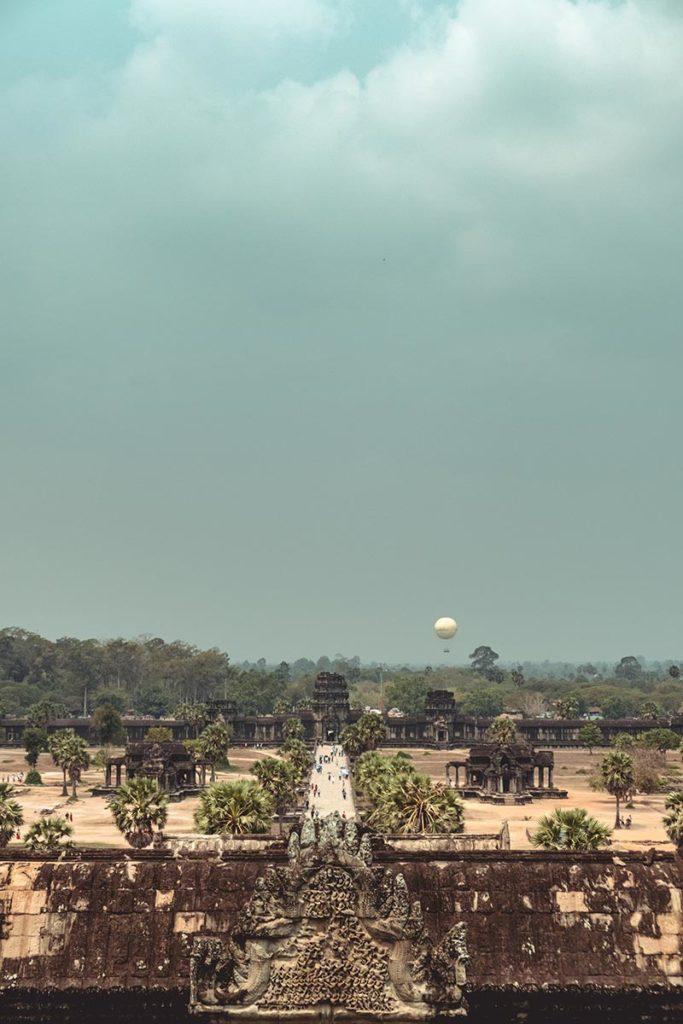 Temple d'Angkor Wat vue depuis la tour Refuse to hibernate