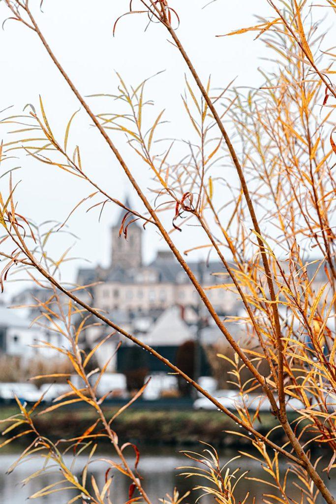 Abbaye aux femmes vue depuis le canal Caen Refuse to hibernate