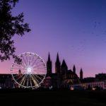 Hôtel-de-ville Abbaye aux hommes grand roue de nuit Caen Refuse to hibernate