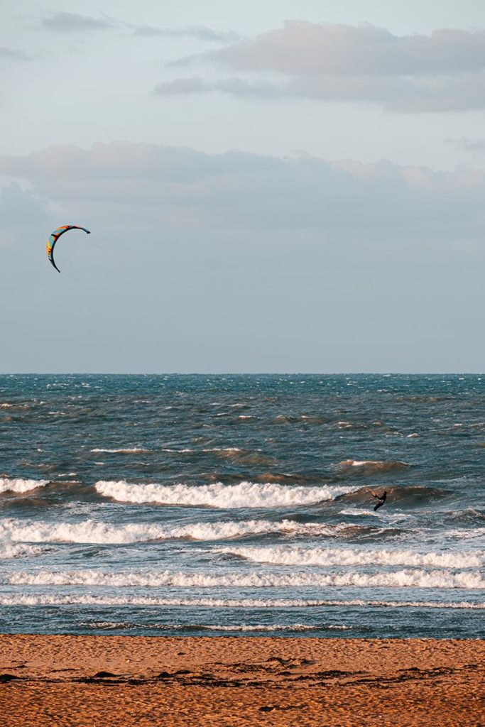 kitesurf plage de Ouistreham Refuse to hibernate