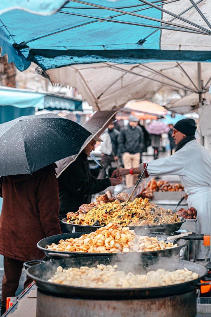 marché du Quai Vendeuvre paella Caen Refuse to hibernate