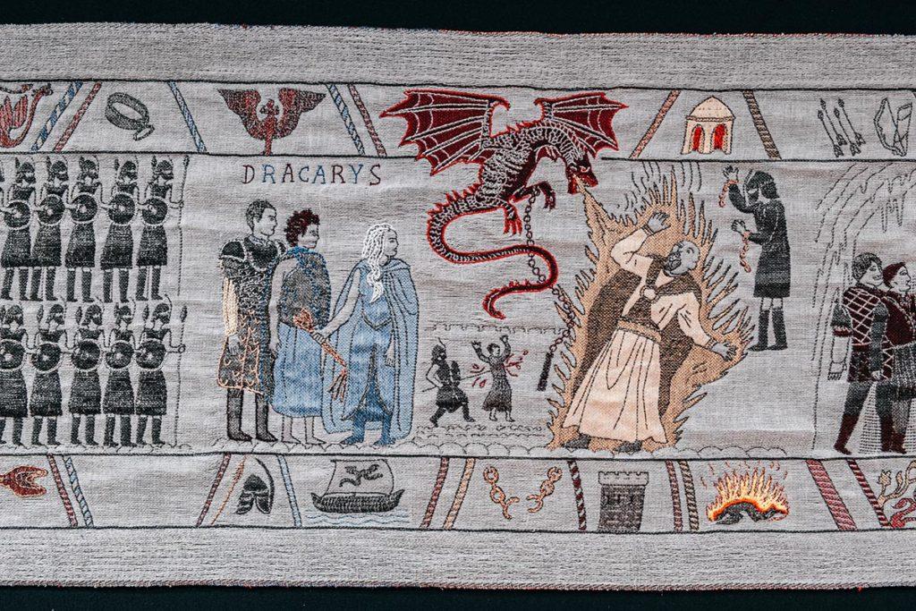 Tapisserie de Game of Thrones dracarys Refuse to hibernate