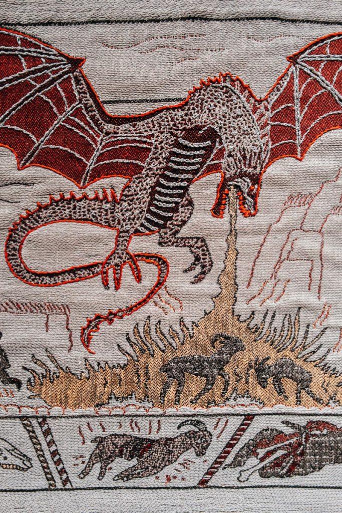 Tapisserie de Game of Thrones dragon Refuse to hibernate