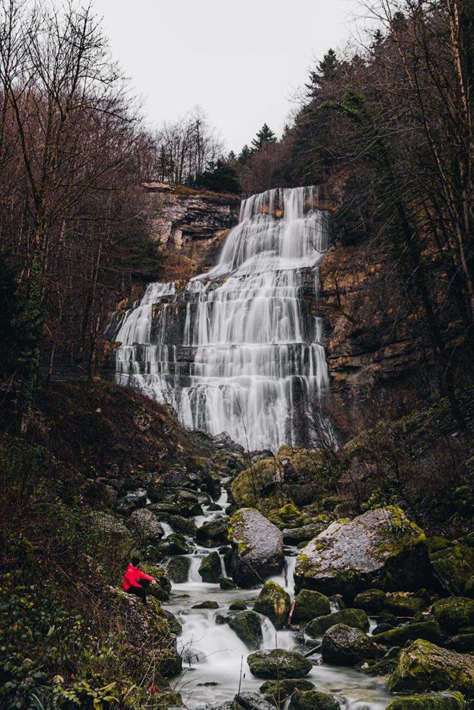 cascade de l'Éventail le Hérisson Mickaël Jura