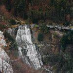 cascade de l'Éventail le Hérisson vue de haut Jura