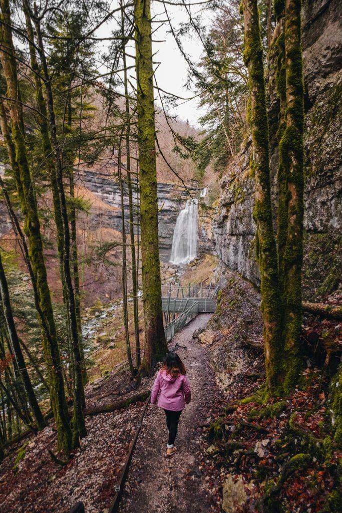 cascade Grand Saut le Hérisson Jura