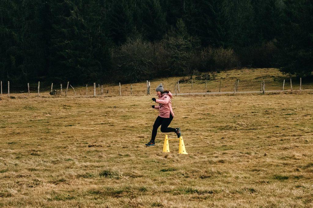 initiation au biathlon Audrey court Jura
