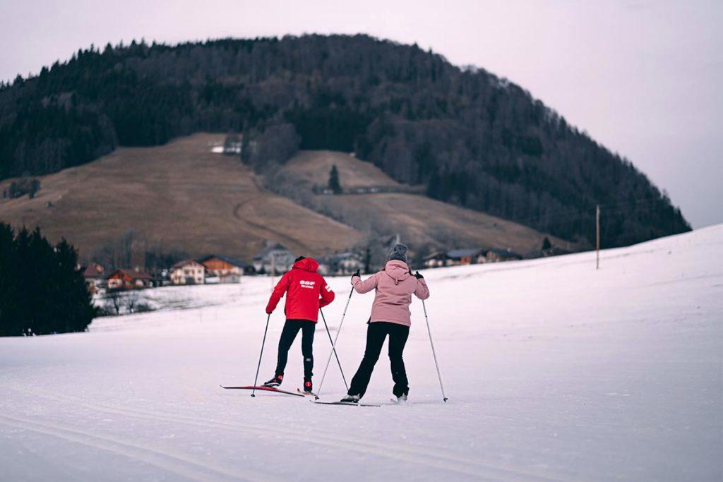 initiation au ski de fond skating Audrey Alpes du Léman Refuse to hibernate