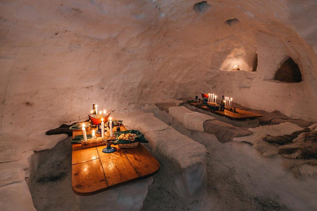 intérieur igloo Alpes du Léman Refuse to hibernate