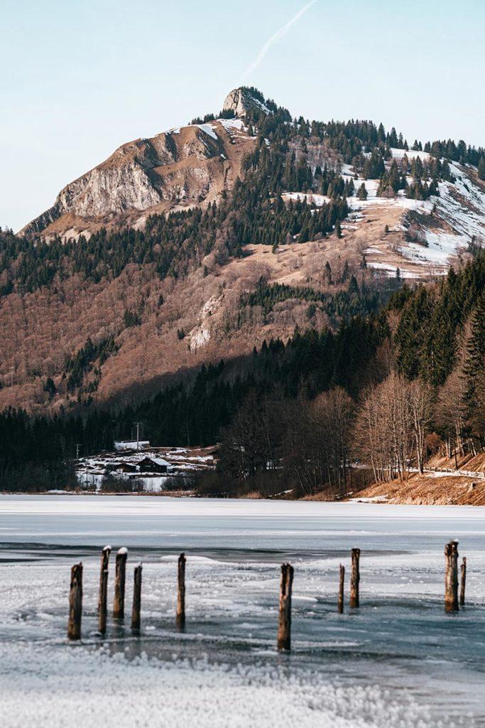 lac du Vallon gelé montagne Alpes du Léman Refuse to hibernate