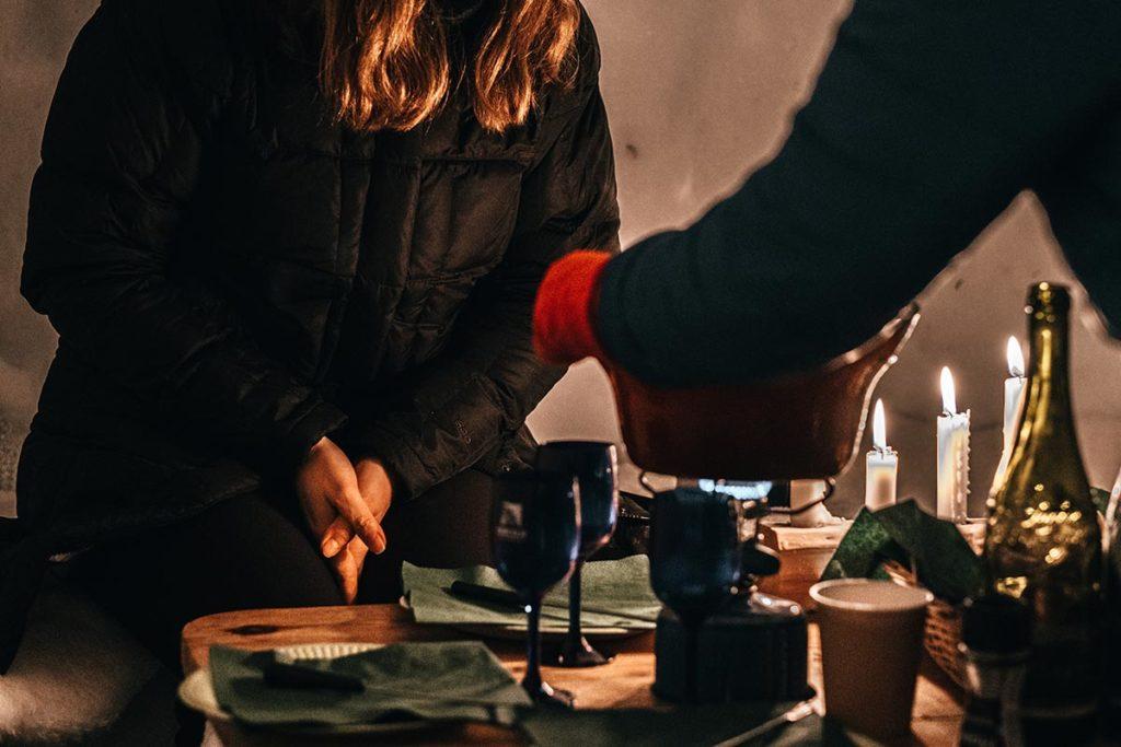 repas fondu rando igloo Alpes du Léman Refuse to hibernate