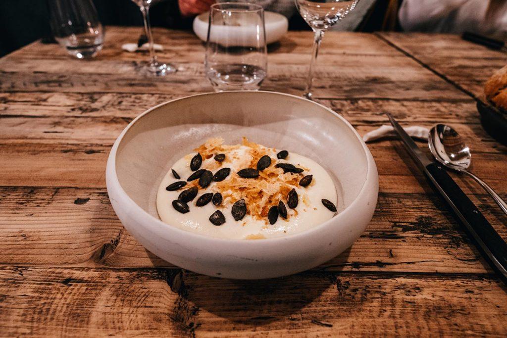 restaurant du Moulin de Léré duo de courges Alpes du Léman Refuse to hibernate