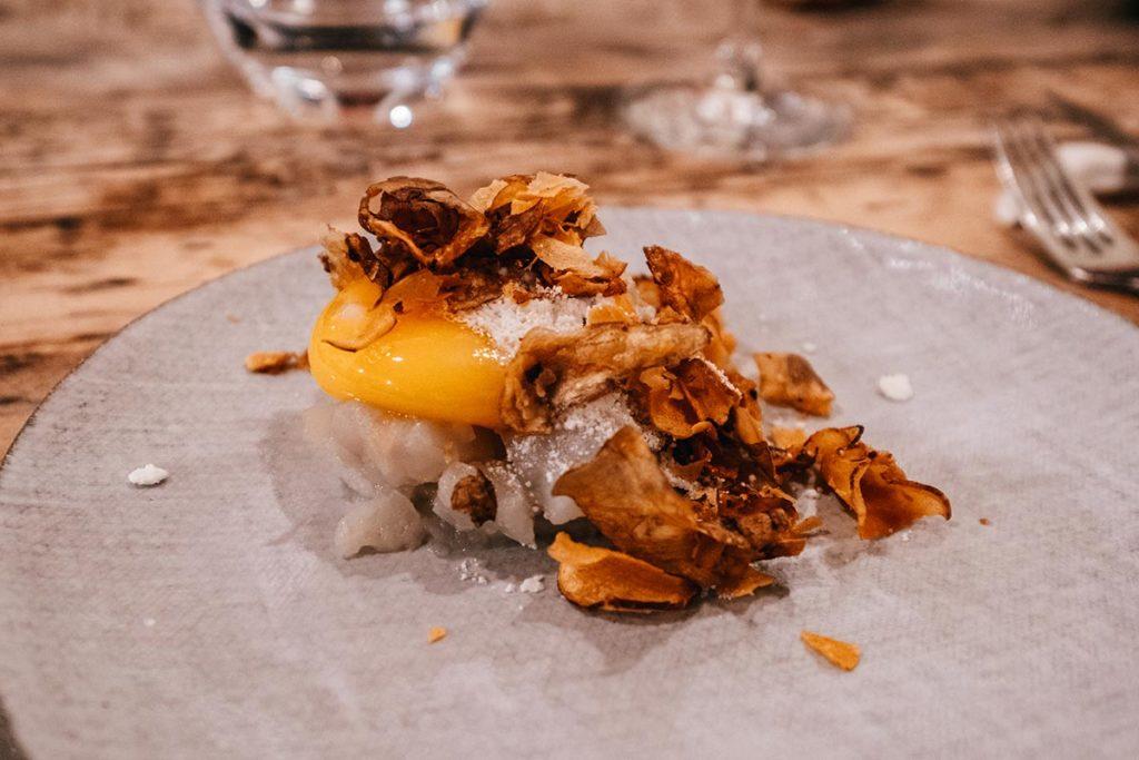 restaurant du Moulin de Léré topinambour œuf Alpes du Léman Refuse to hibernate