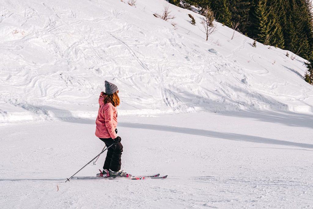 skier au Rock d'Enfer Alpes du Léman Refuse to hibernate