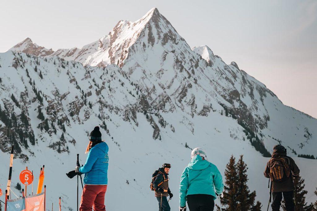 skieurs Rock d'Enfer Alpes du Léman Refuse to hibernate
