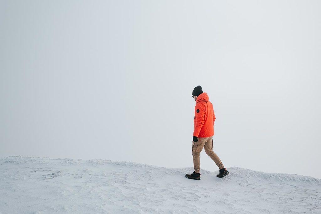 sommet de la Dôle enneigé Jura
