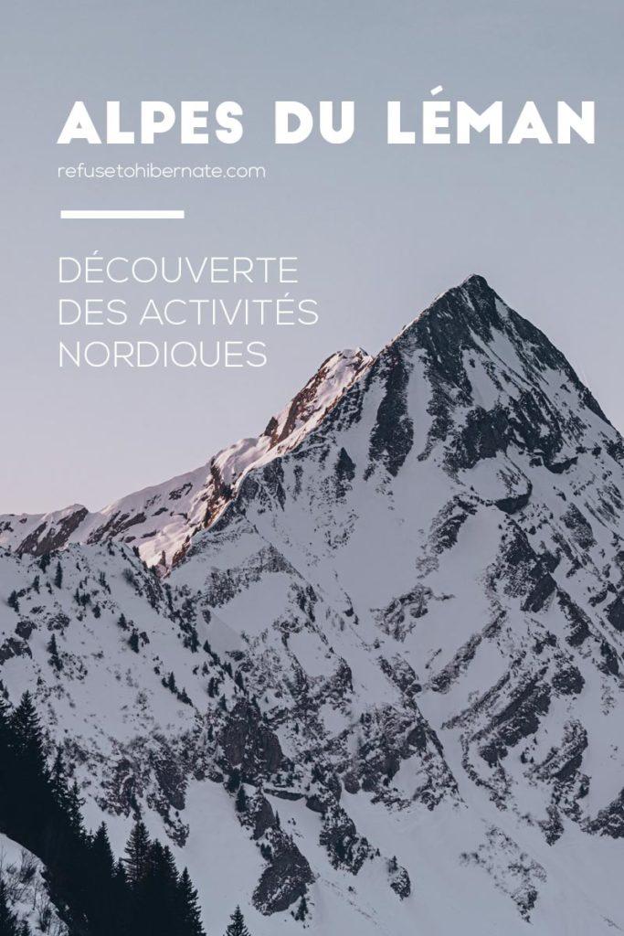activités nordiques Alpes du Léman Pinterest