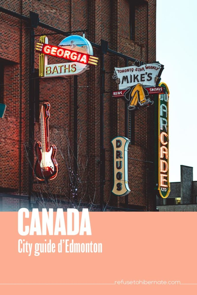 Canada city guide Edmonton Pinterest