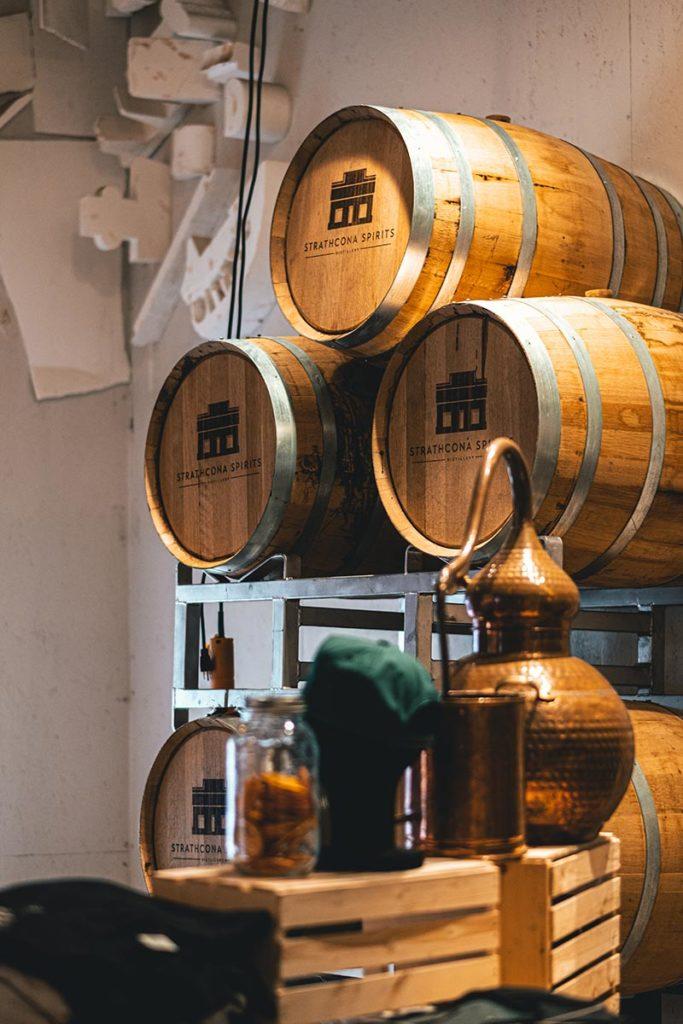 Strathcona spirits distillery tonneaux fermentation Edmonton Refuse to hibernate