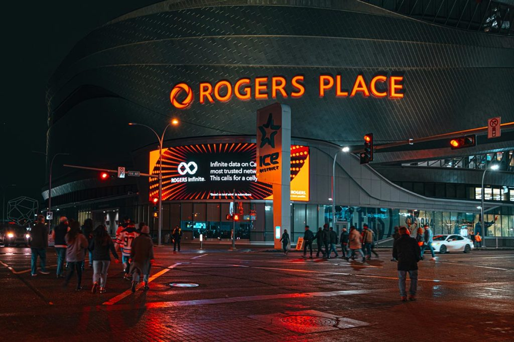 Rogers place hockey Edmonton Refuse to hibernate