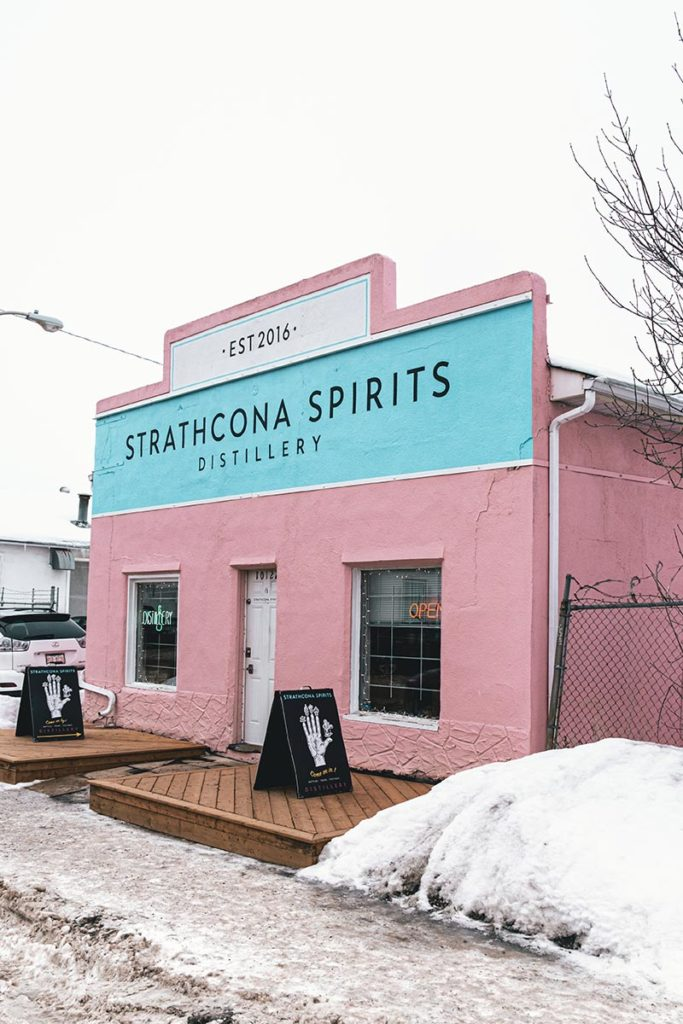 Strathcona spirits distillery Edmonton Refuse to hibernate