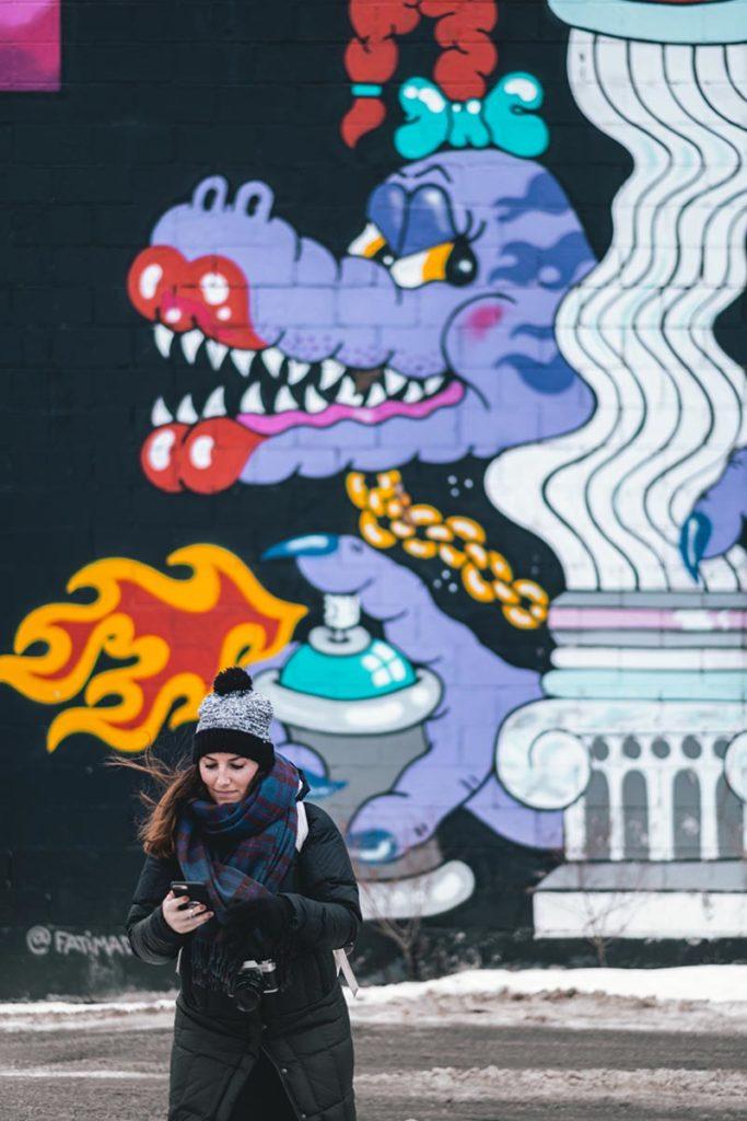 street art Audrey Edmonton Refuse to hibernate
