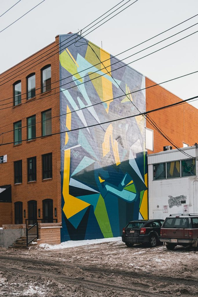 street art murale couleurs Edmonton Refuse to hibernate