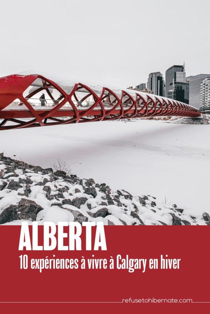 Alberta 10 expériences Calgary en hiver Pinterest