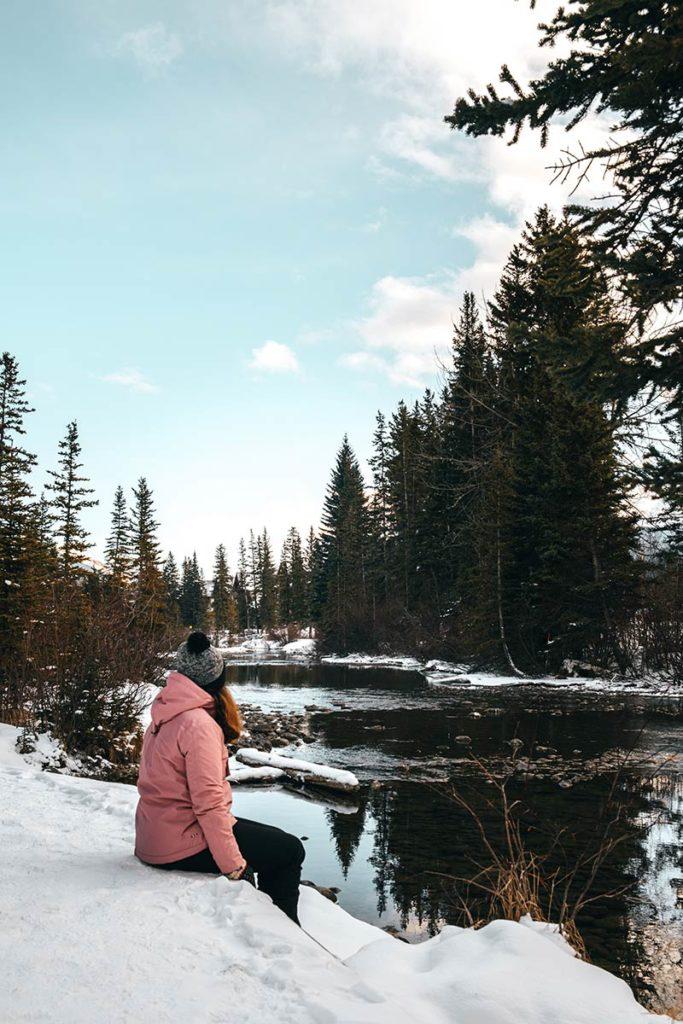 Audrey Policeman Creek Trail Canmore Refuse to hibernate