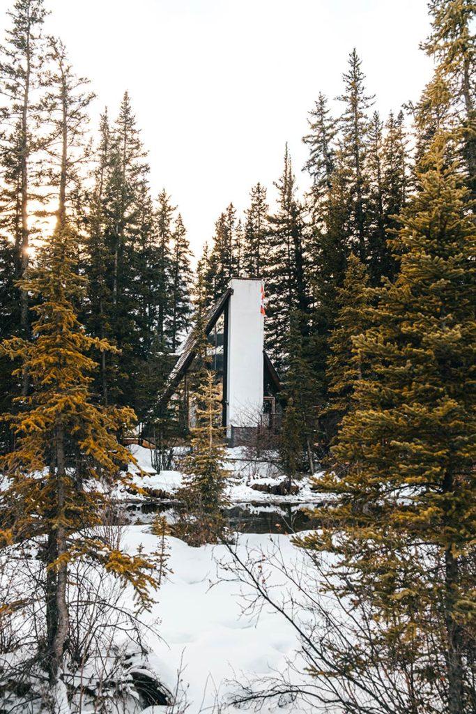 chalet Policeman Creek Trail Canmore Refuse to hibernate
