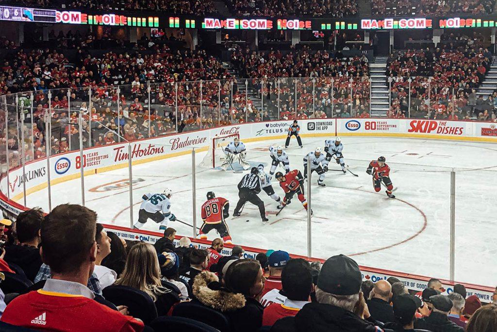 match hockey Flames contre Sharks Calgary Refuse to hibernate